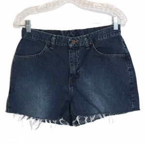 Lee Riders High Waist Cutoff Mom Jeans Shorts 8